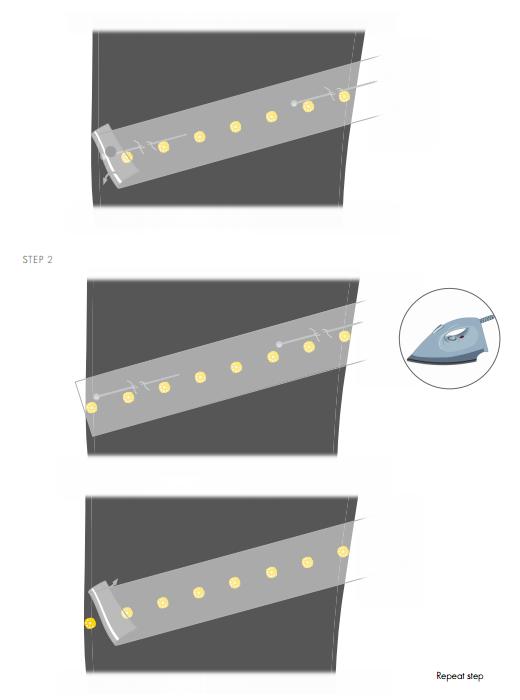DIY Intructions on Appling Swarovski Crystals to pants step 2