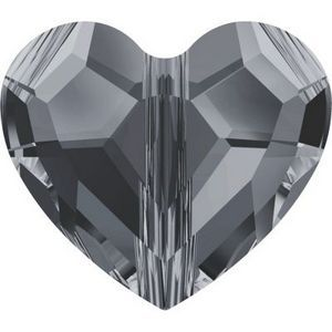 Swarovski_Crystal_Heart_Bead_5741-Crystal_Silver_Night