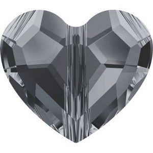 Swarovski_Crystal_Heart_Bead_5741-Crystal_Silver_Night