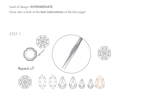 DIY Swarovski Crystal Wedding Earring Design free design and instructions from Rainbows of Light page 1