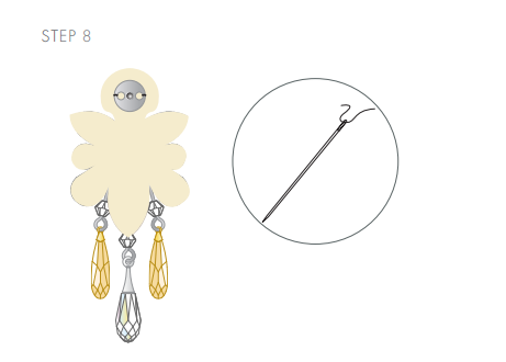 DIY Swarovski Crystal Wedding Earring Design free design and instructions from Rainbows of Light step 8