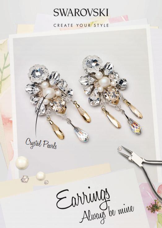 DIY Swarovski Crystal Wedding Earring Design free design and instructions