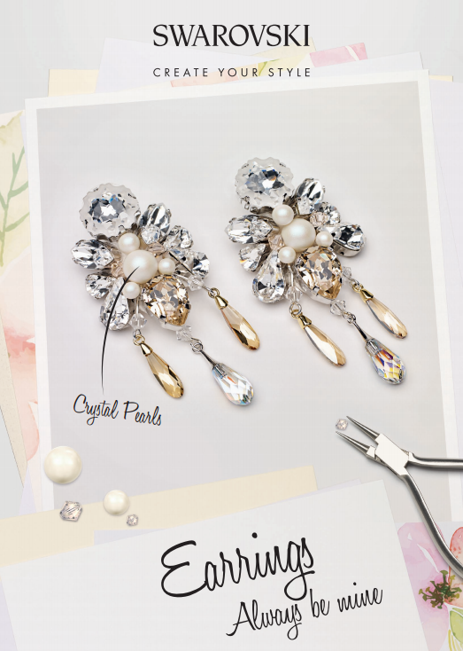 DIY Swarovski Crystal Wedding Earring Design free design and instructions