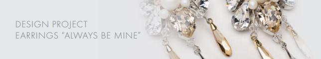 DIY Swarovski Crystal Wedding Earring Design inspiration free design and instructions from Rainbows of Light