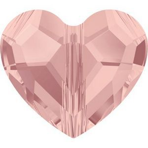 Swarovski Crystal Heart Bead Blush Rose