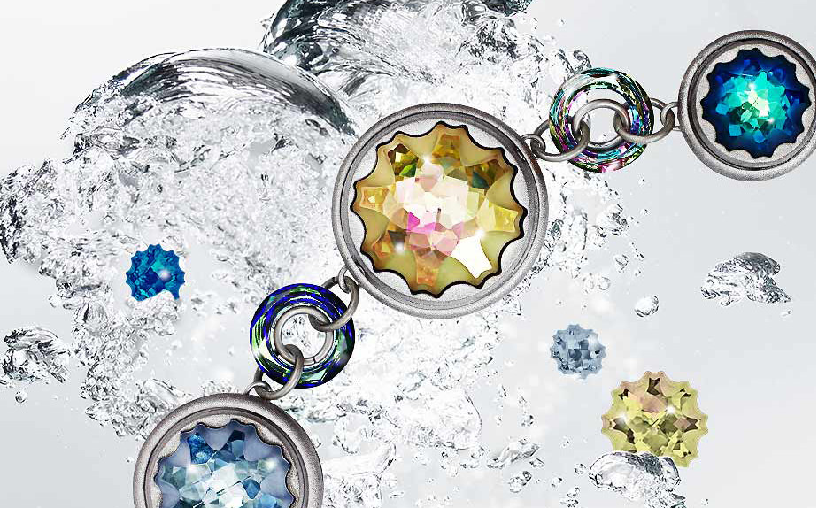 Swarovski Crystal Sea Urchin Round Stone Jewelry Spring Summer Trends