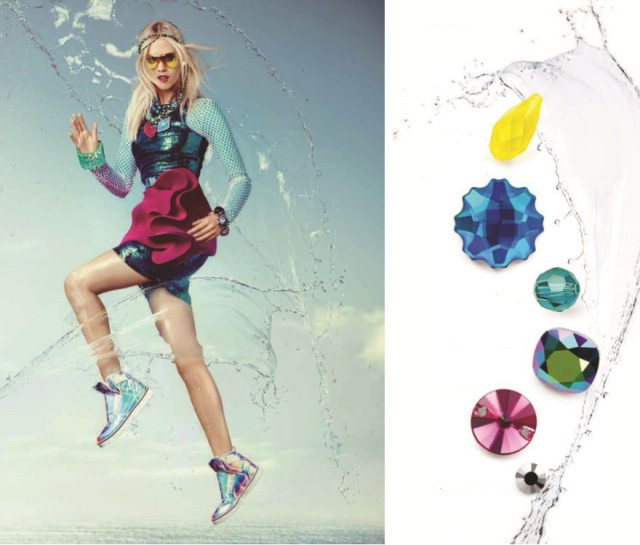 Swarovski Crystal Water color and jewelry trends Spring Summer Innovations
