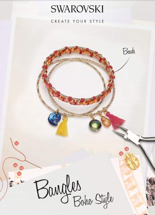 Free Swarovski Crystal Jewelry Designs and Instructions Bangle