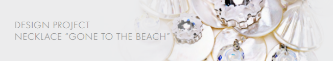 DIY Free Swarovski Crystal Necklace Design and Instructions beach style