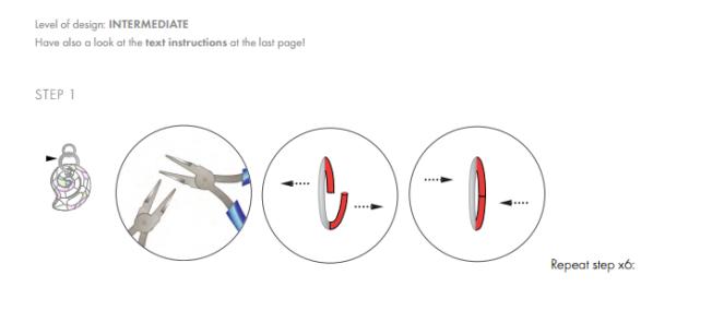 DIY Free Swarovski Crystal Necklace Design and Instructions Step 1
