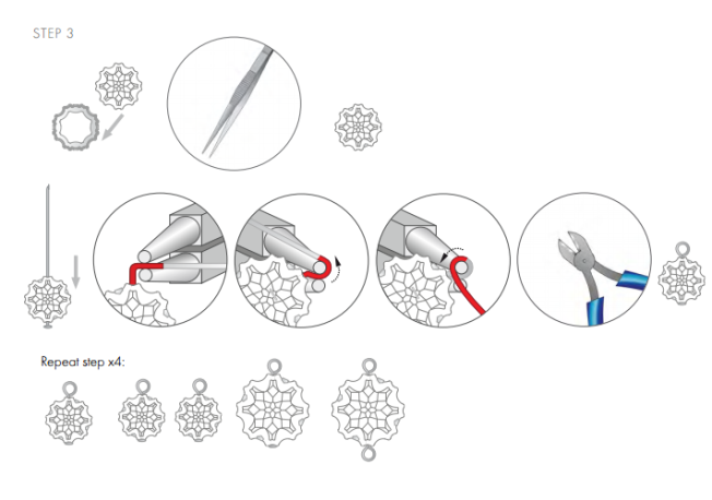 DIY Free Swarovski Crystal Necklace Design and Instructions Step 3