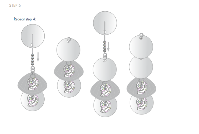 DIY Free Swarovski Crystal Necklace Design and Instructions Step 5