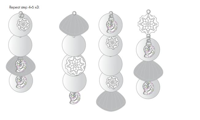 DIY Free Swarovski Crystal Necklace Design and Instructions Step 6.5