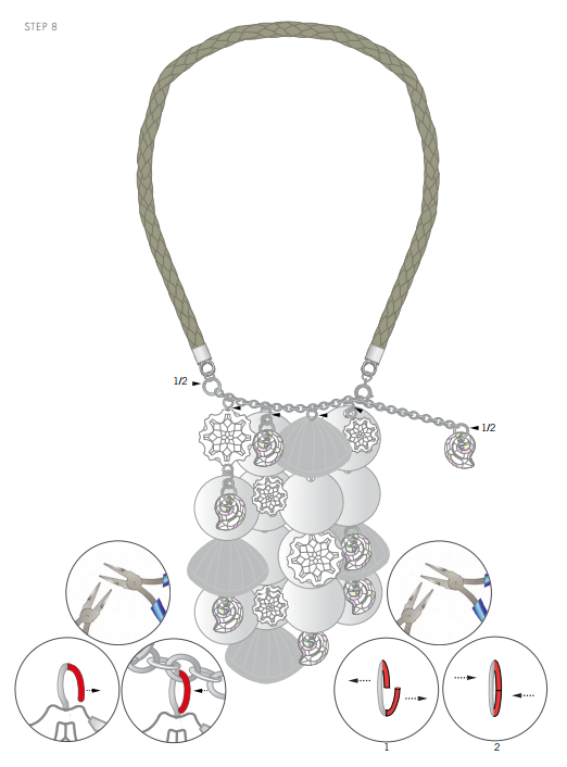 DIY Free Swarovski Crystal Necklace Design and Instructions Step 8