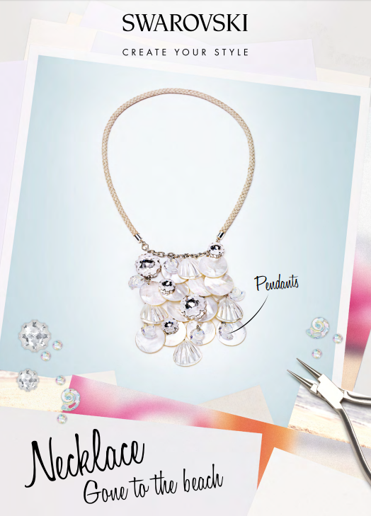 DIY Free Swarovski Crystal Necklace Design and Instructions
