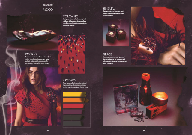 Swarovski Crystal Fire Glamour color and jewelry trends Spring and Summer New Innovations Style