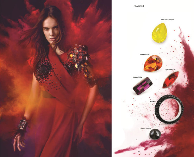 Swarovski Crystal Fire Glamour color and jewelry trends Spring and Summer New Innovations