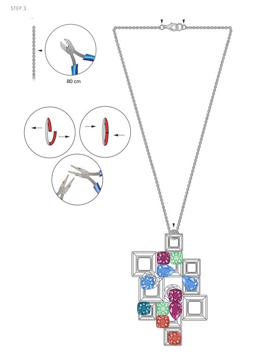 Free Swarovski Crystal Necklace Design and Instructions step 3