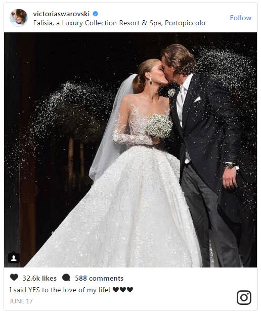 Victoria Swarovski wedding instagram