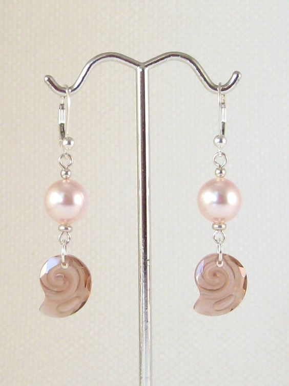 Swarovski_Crystal_Sea_Snail_Earrings_Blush_Rose