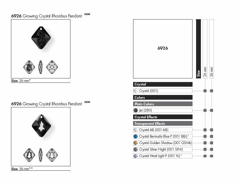 FW2017 New Swarovski Crystal Growing Crystal Rhombus Pendant