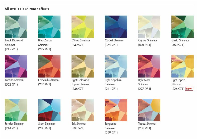 FW2017 New Swarovski Crystal Shimmer Effects