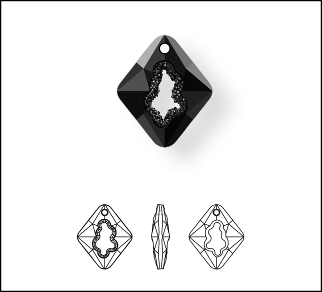 New_Swarovski_Crystal_Growing_Crystal_Rhombus_Pendant_Jewelry_Trends