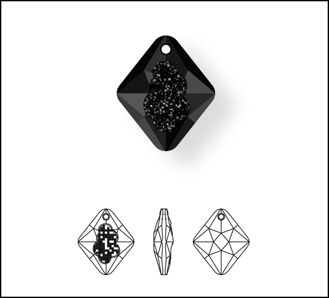 New_Swarovski_Crystal_Growing_Crystal_Rhombus_Pendant_Jewelry_Trends_and_Inspiration