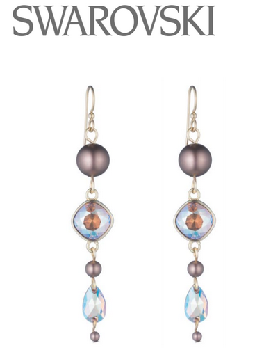 Free Swarovski Crystal Earring Design and Instructions
