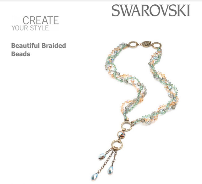 Free Swarovski Crystal Necklace Design and Instructions