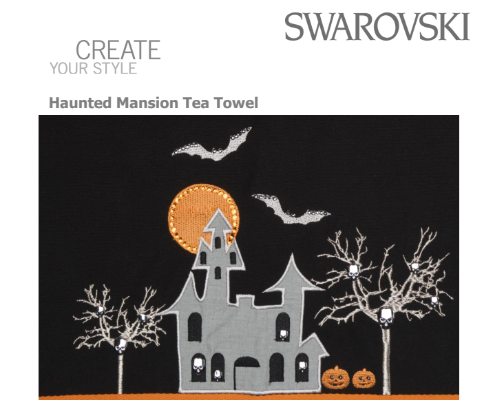 Free_Swarovski_Crystal_Patter_Design_and_Instructions_Haunted_Mansion_Tea_Towel