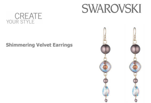 Simmering Velvert Earrings Free Design and Instructions using Swarovski Crystals