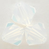 Swarovski Crystal 5328 Xilion Bicone Beads in White Opal