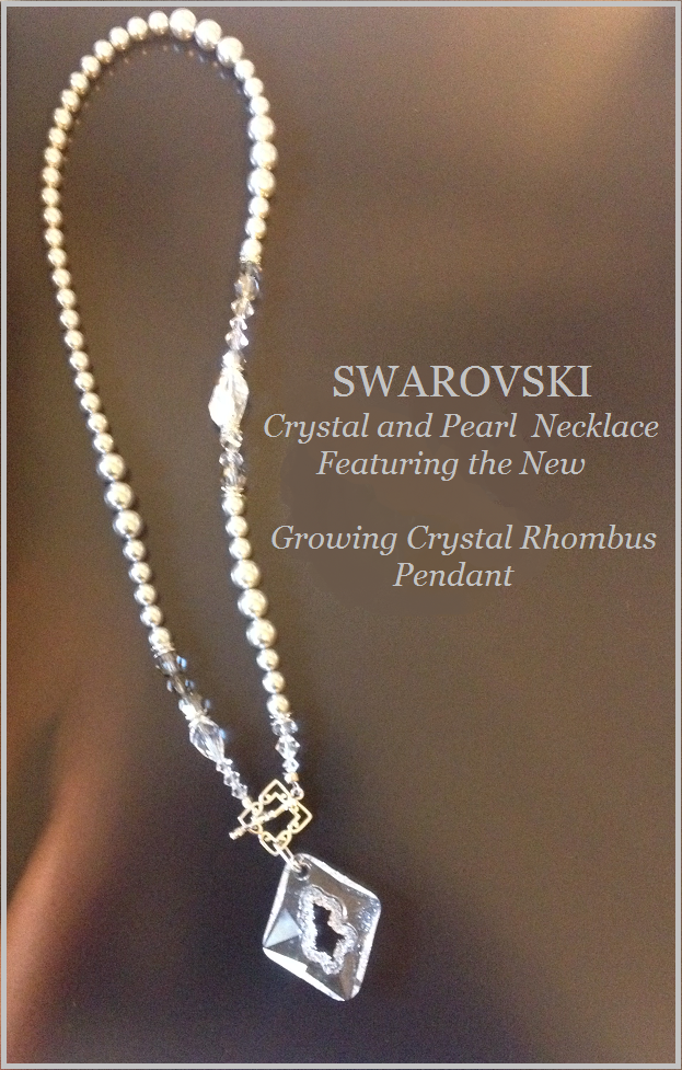 Swarovski Crystal Necklace Design Inspiration Authorized Reseller wholesale beads Growing Crystal Pendant
