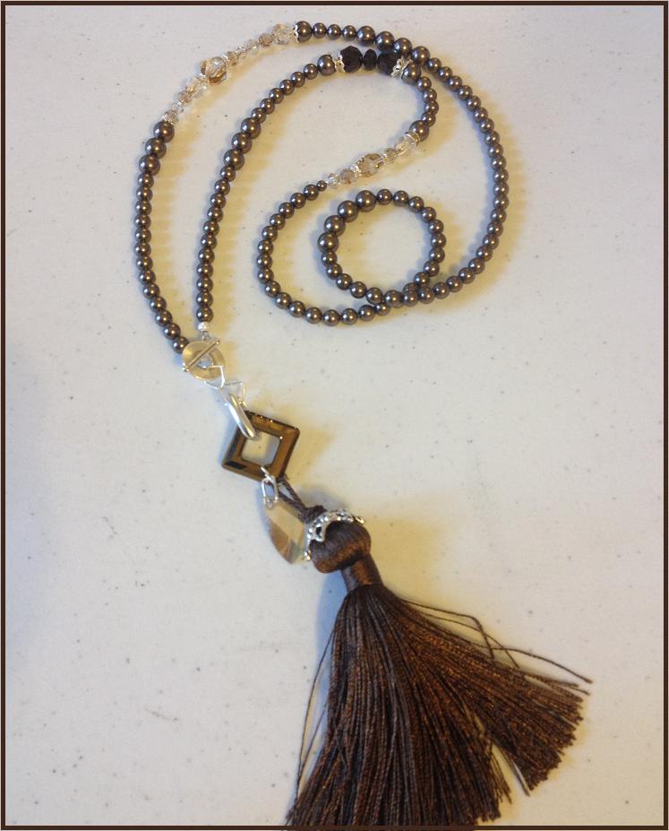 DIY Swarovski Crystal and Pearl Necklace