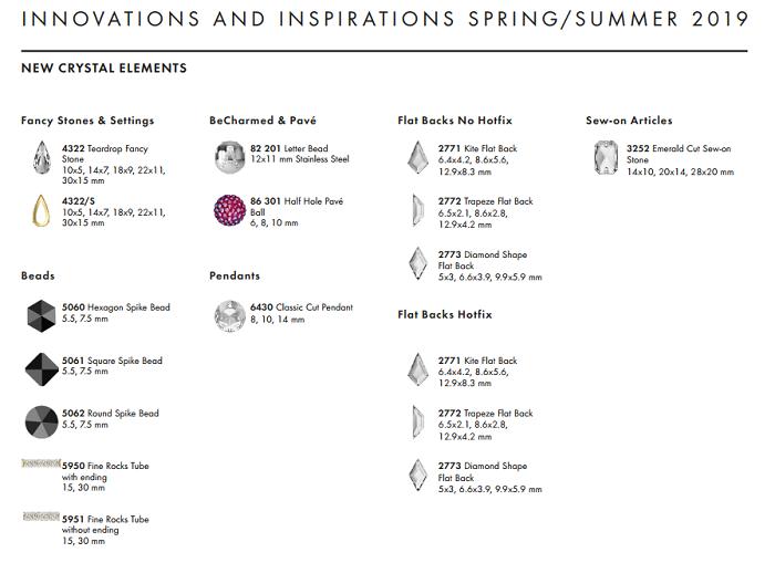 New Swarovski Crystal Innovations Spring Summer Information wholesale