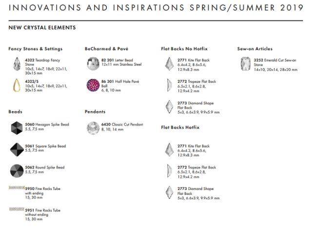 New Swarovski Crystal Innovations Spring Summer Information wholesale