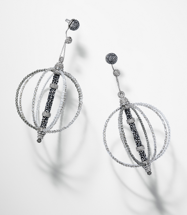 Swarovski Crystal Fine Rocks Tube Bead Earrings design inspiration