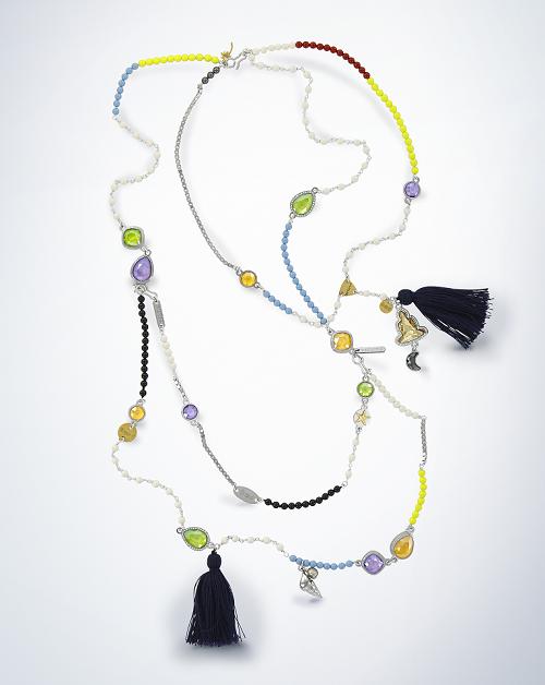 Swarovski Crystal Necklace and tassel design inspiration ShinyLacquerPro_Necklace