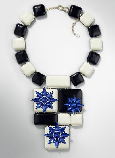 Swarovski Crystal necklace Design inspiration Mejestic Blue