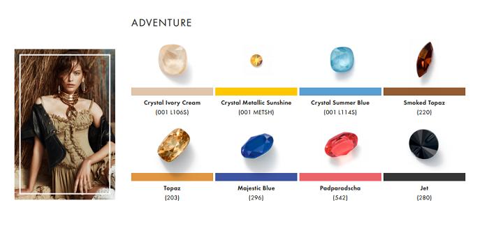 Swarovski Crystal Spring Summer Color Trend Information Adventure trend
