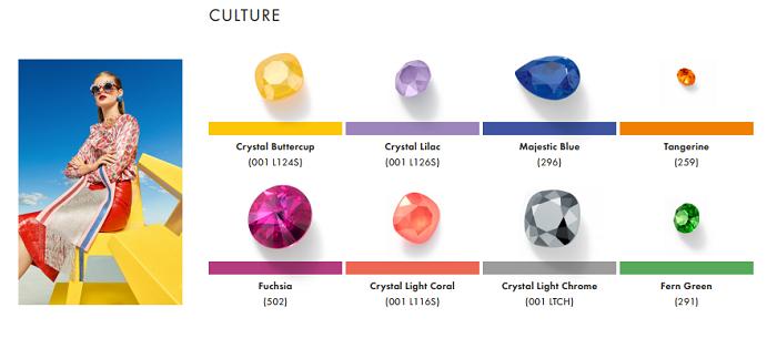Swarovski Crystal Spring Summer Color Trend Information Culture trend
