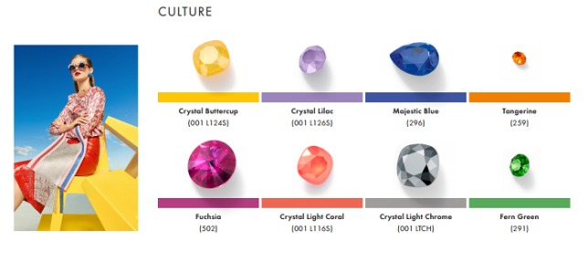 Swarovski Crystal Spring Summer Color Trend Information Culture trend