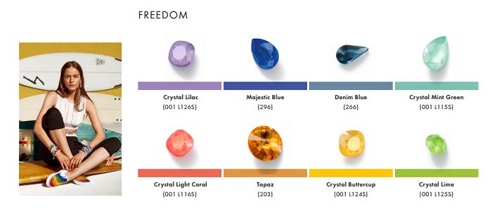 Swarovski Crystal Spring Summer Color Trend Information Freedom trend