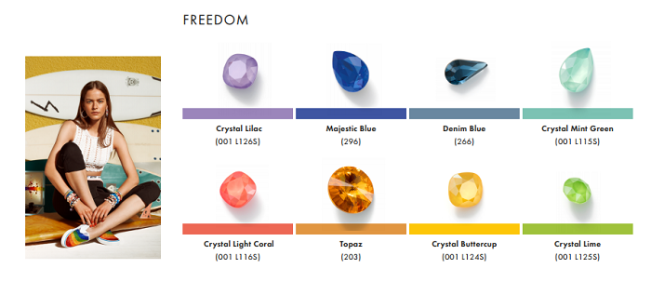 Swarovski Crystal Spring Summer Color Trend Information Freedom trend