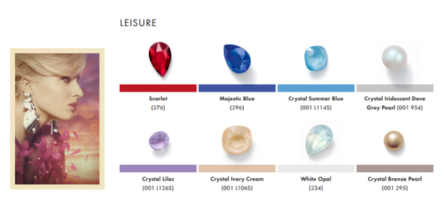 Swarovski Crystal Spring Summer Color Trend Information Leisure trend