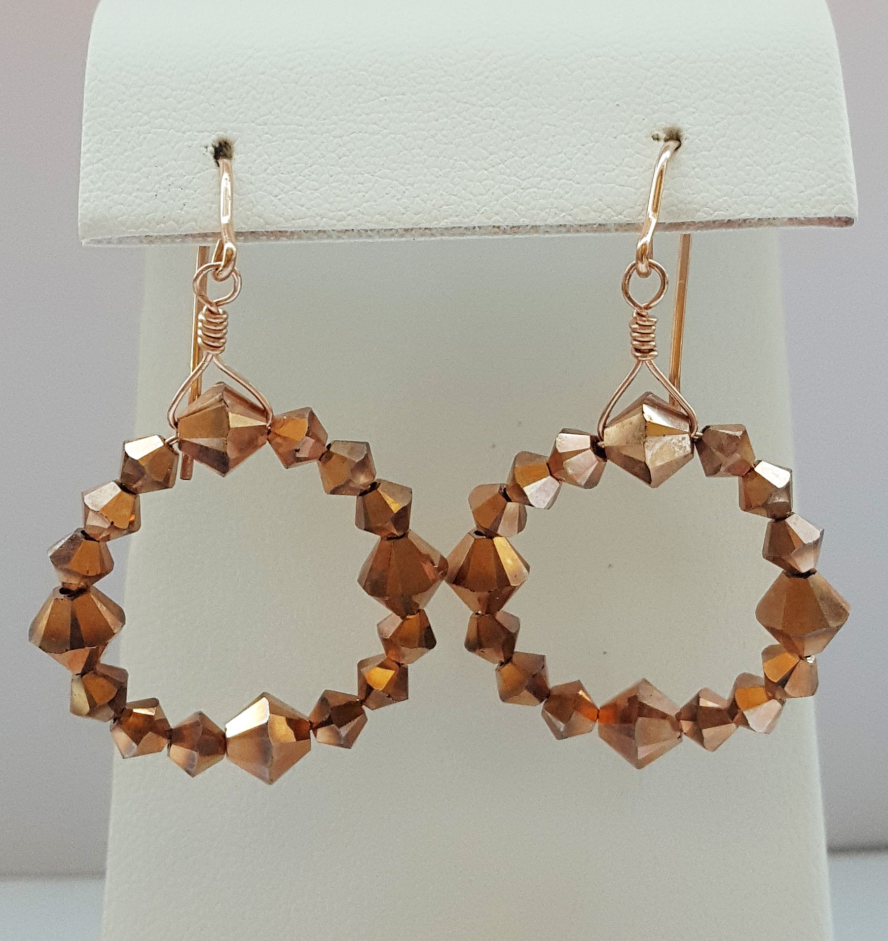 Swarovski Crystal hoop beaded Earrings