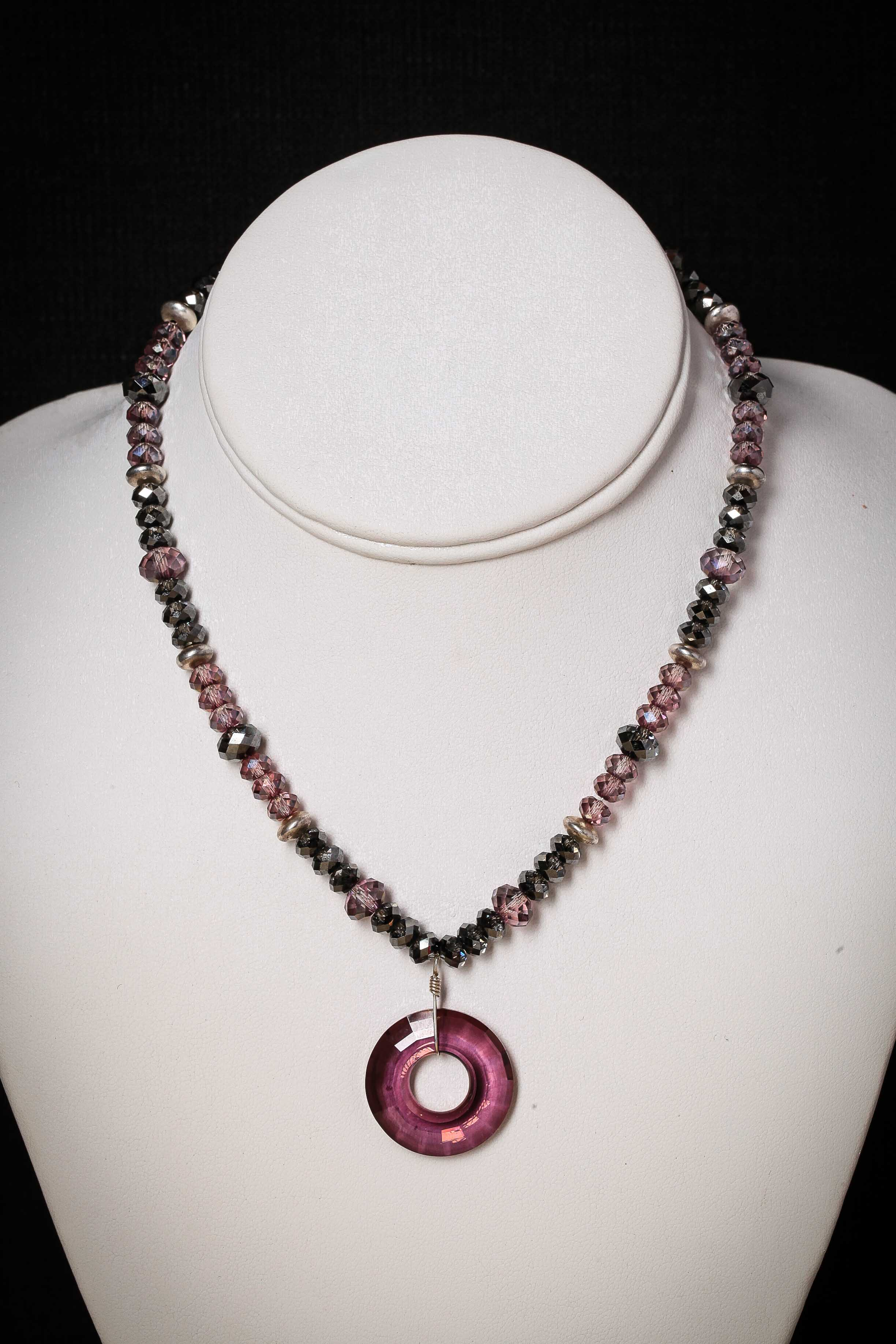 Swarovski Crystal Necklace Design by Judith Glassman