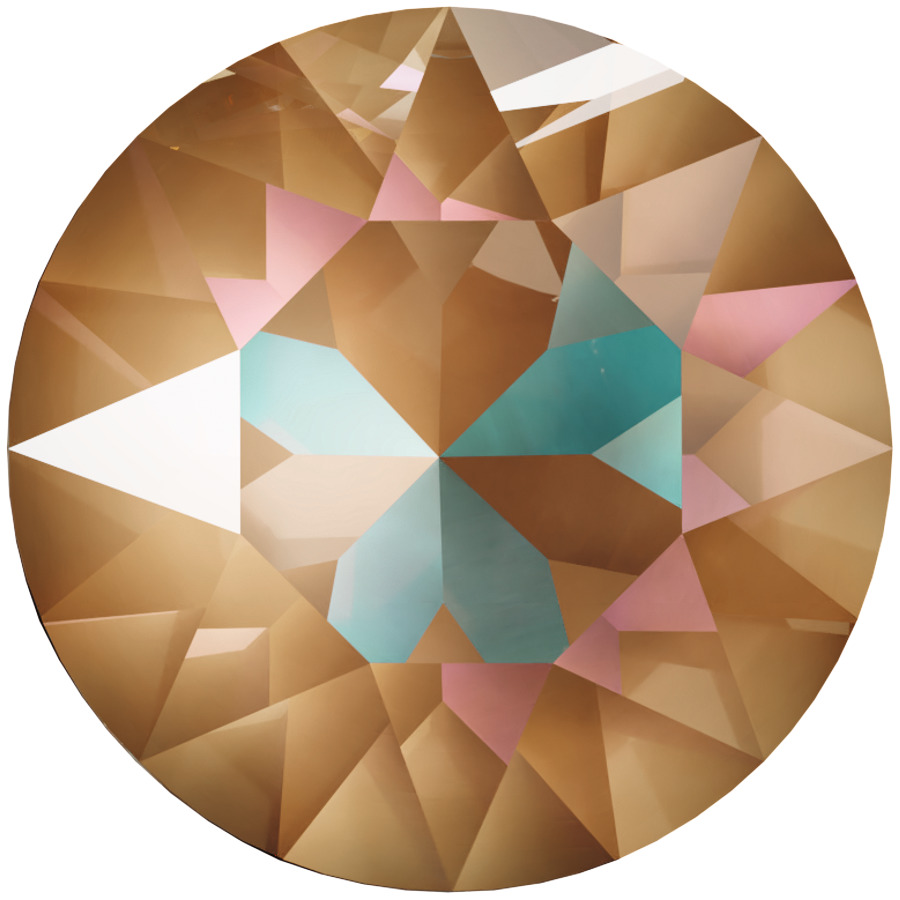 Swarovski_Crystal_ 1088_Xirius_Round_Stones_ Crystal_Cappuccino_DeLite