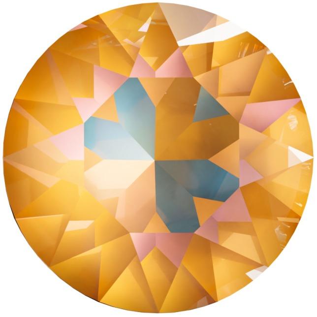 Swarovski_Crystal_ 1088_Xirius_Round_Stones_ Crystal_Ocre_DeLight